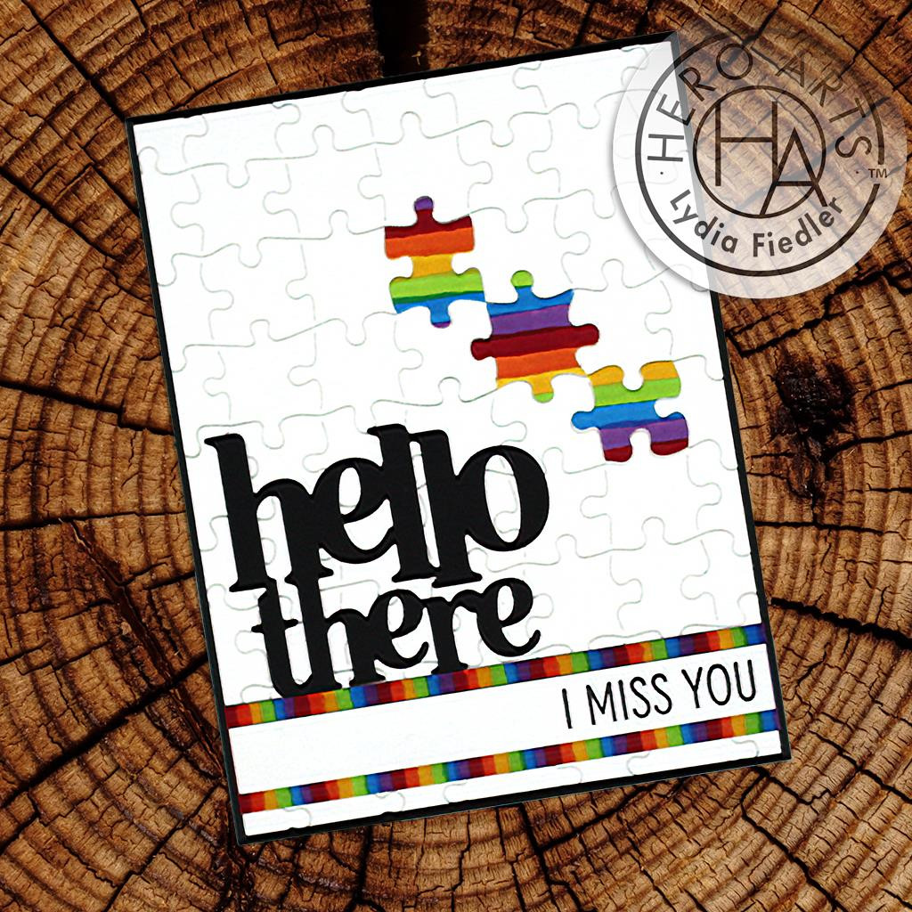 Hello There, Hero Arts Stamp & Cut -