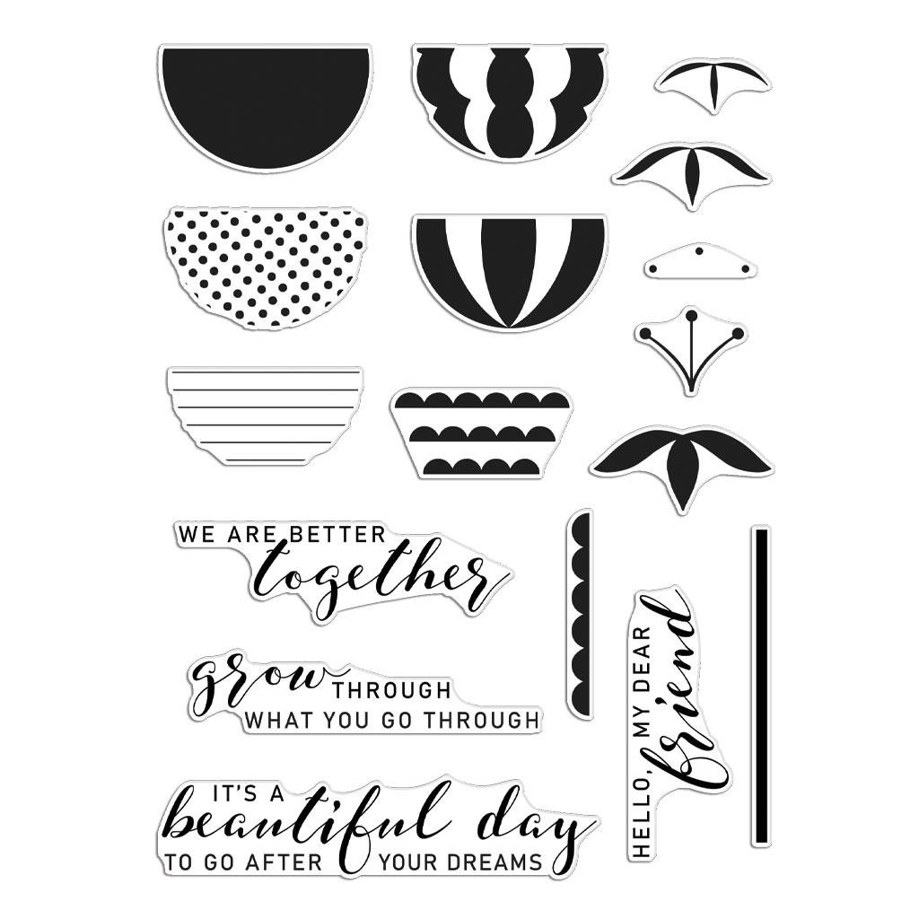 Better Together, Hero Arts & Reverse Confetti Clear Stamps -