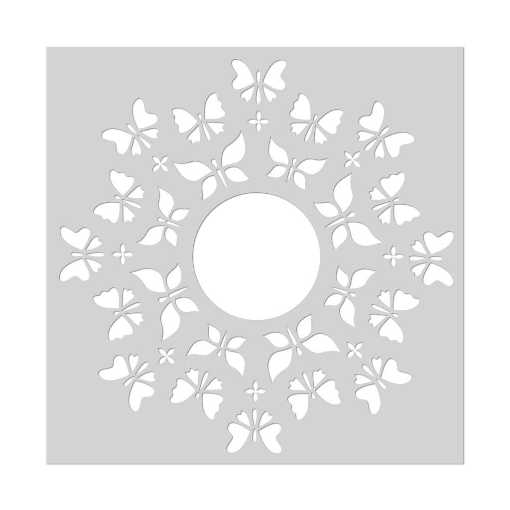 Butterfly Circle, Hero Arts Stencils -