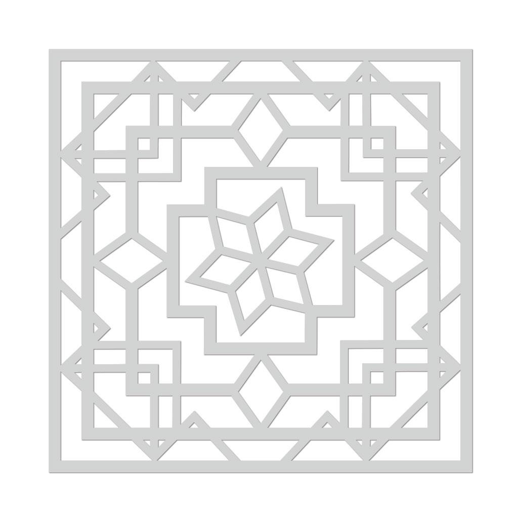 Art Deco Lotus, Hero Arts Stencils -