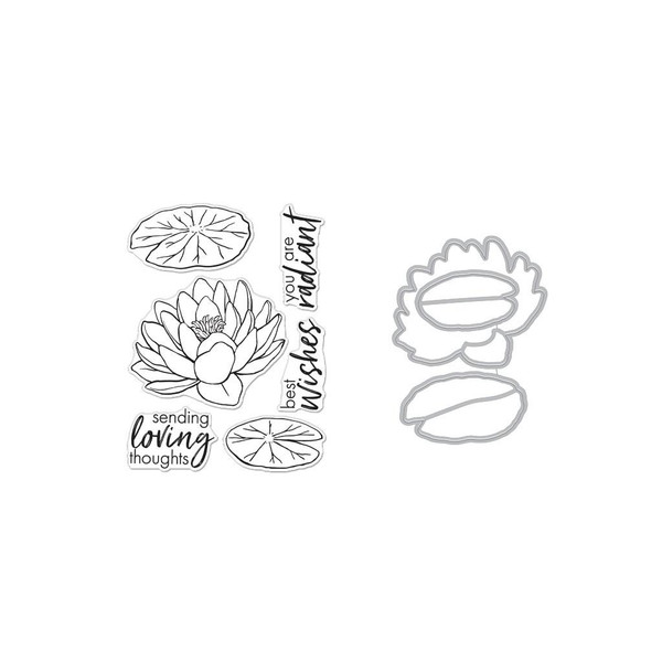 Hero Florals Lotus, Hero Arts Stamp and Die Combo -