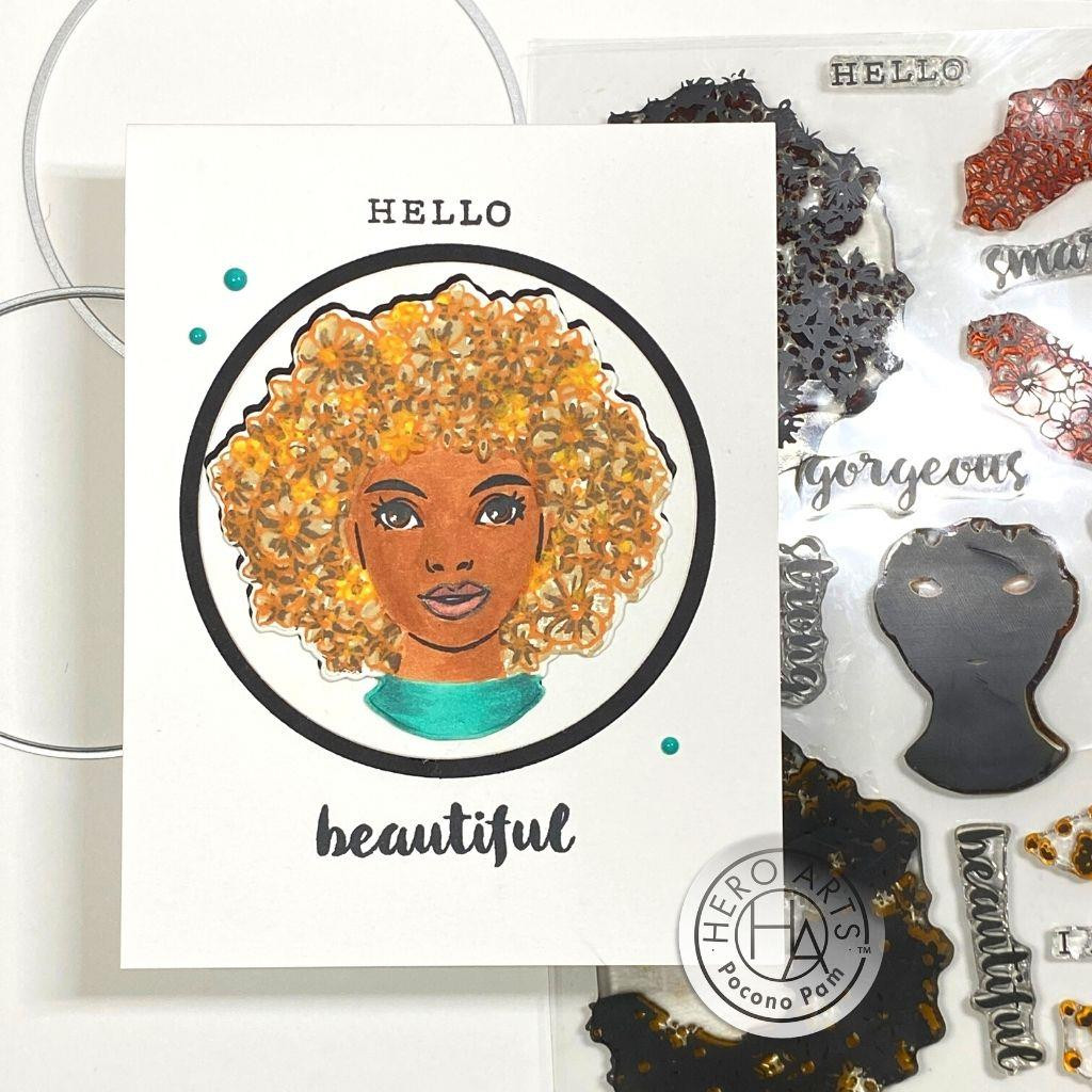 Color Layering Flower Power, Hero Arts Stamp and Die Combo -