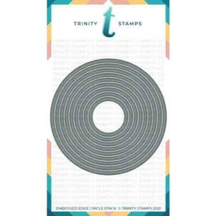 Embossed Edge Circle Stack, Trinity Stamps Dies -