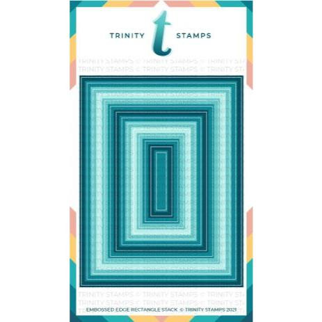 Modern Embossed Rectangle Stack, Trinity Stamps Dies -
