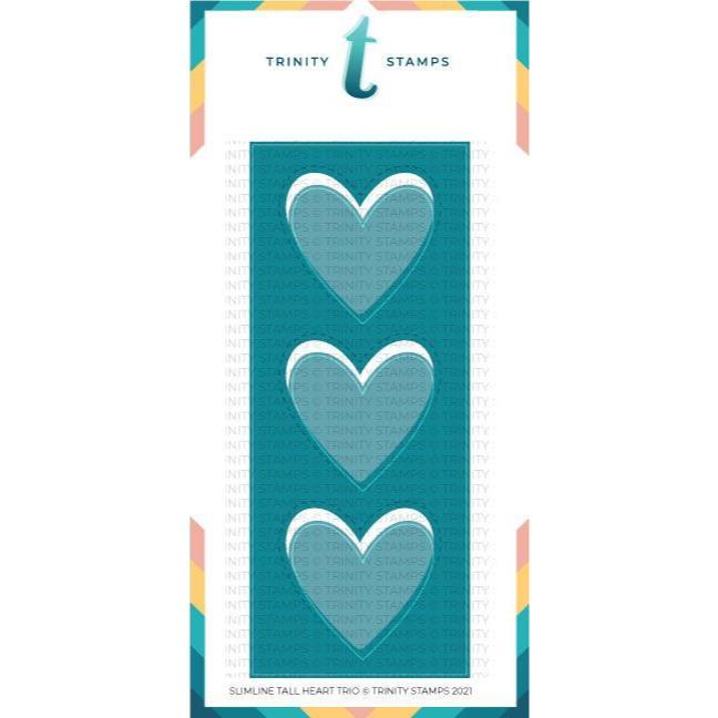 Slimline Tall Heart Trio, Trinity Stamps Dies -