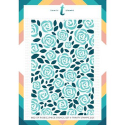 Bed of Roses Layering, Trinity Stamps Stencils -