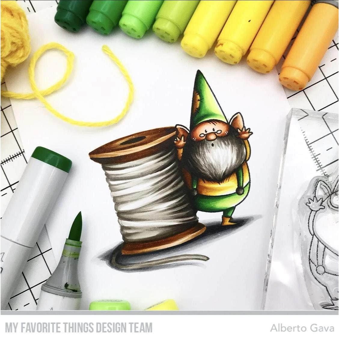 You Gnome Me by Birdie Brown, My Favorite Things Clear Stamps -