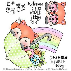 Welcome Little One, Darcie's Clear Stamps -