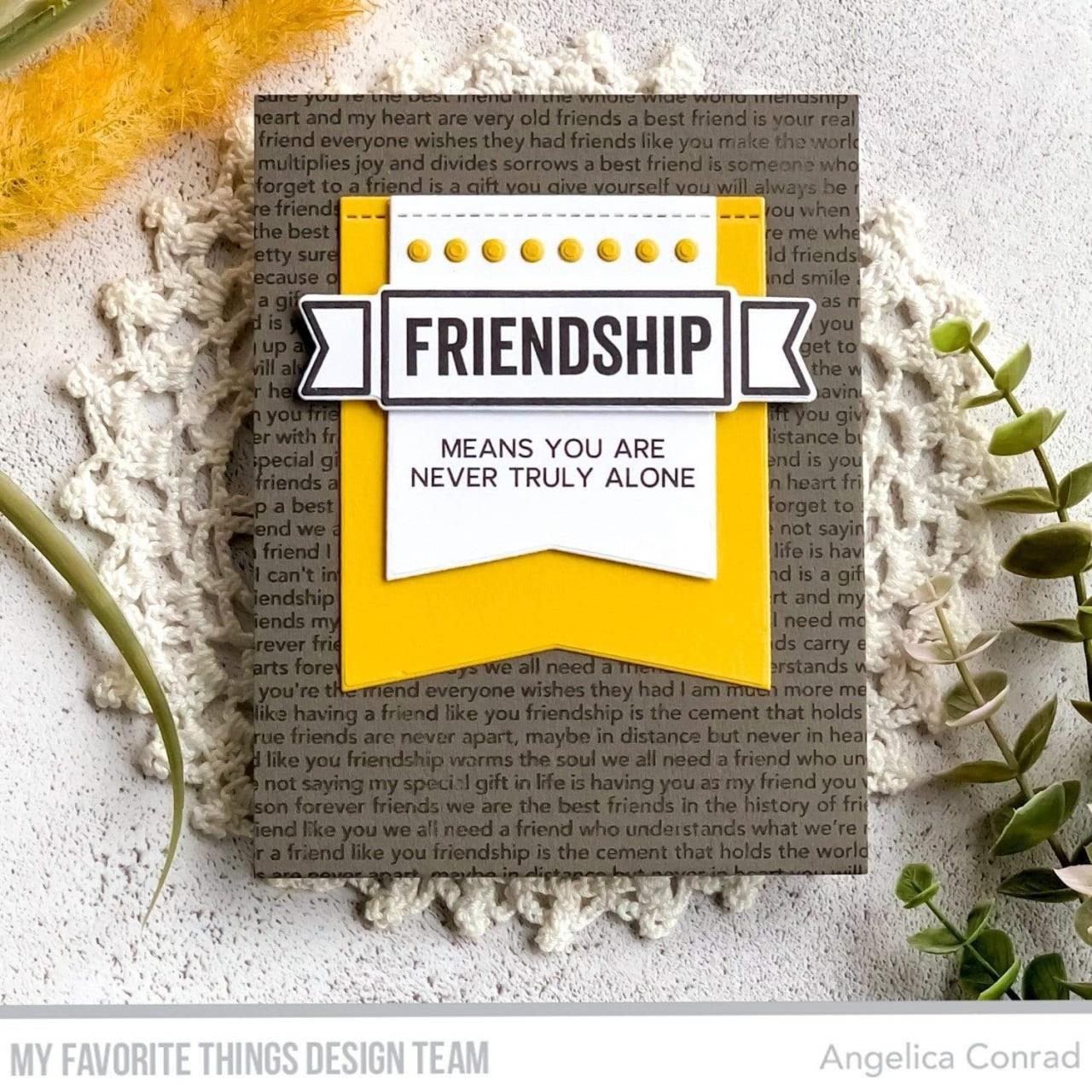 What Friendship Means, My Favorite Things Die-Namics -