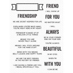 What Friendship Means, My Favorite Things Clear Stamps -