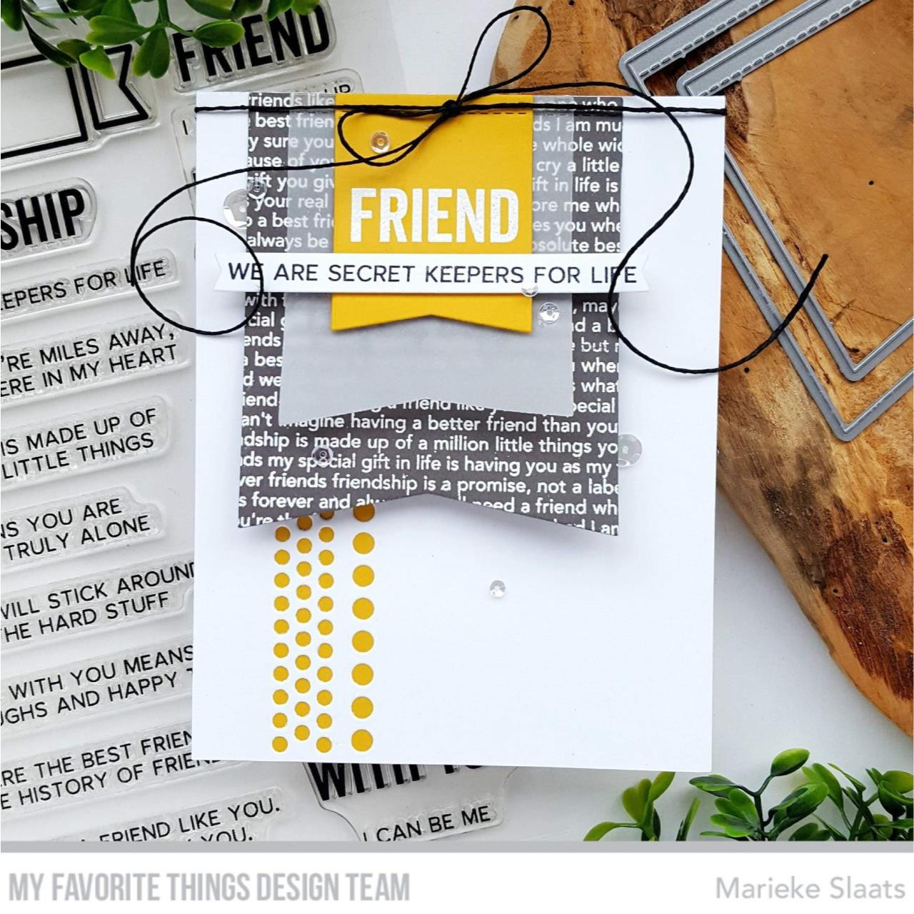 Best Friend Background, My Favorite Things Cling Stamps -