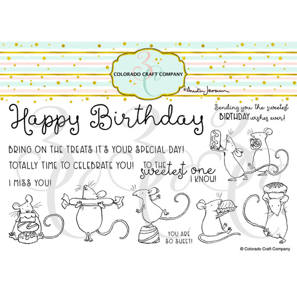 So Sweet by Anita Jeram, Colorado Craft Company Clear Stamps -