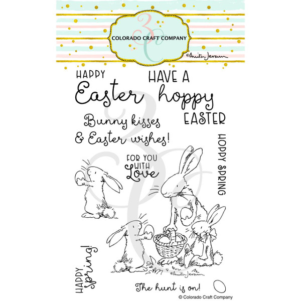 Happy Easter by Anita Jeram, Colorado Craft Company Clear Stamps -