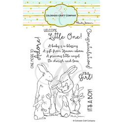 New Baby by Anita Jeram, Colorado Craft Company Clear Stamps -