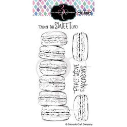 Slimline Macarons, Colorado Craft Company Clear Stamps -