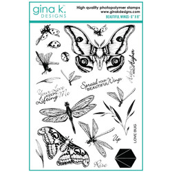 Beautiful Wings, Gina K Designs Clear Stamps -