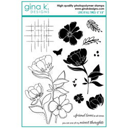 Love At All Times, Gina K Designs Clear Stamps -