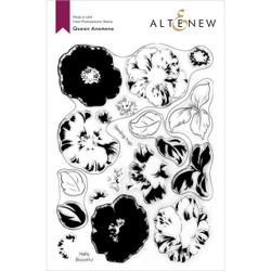 Queen Anemone, Altenew Clear Stamps -