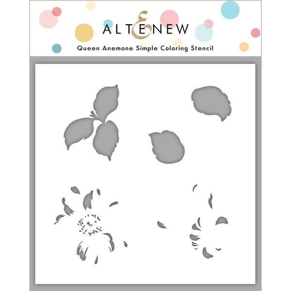 Queen Anemone, Altenew Stencils -