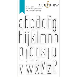 Tall Alpha Lowercase, Altenew Clear Stamps -
