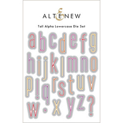 Tall Alpha Lowercase, Altenew Dies -
