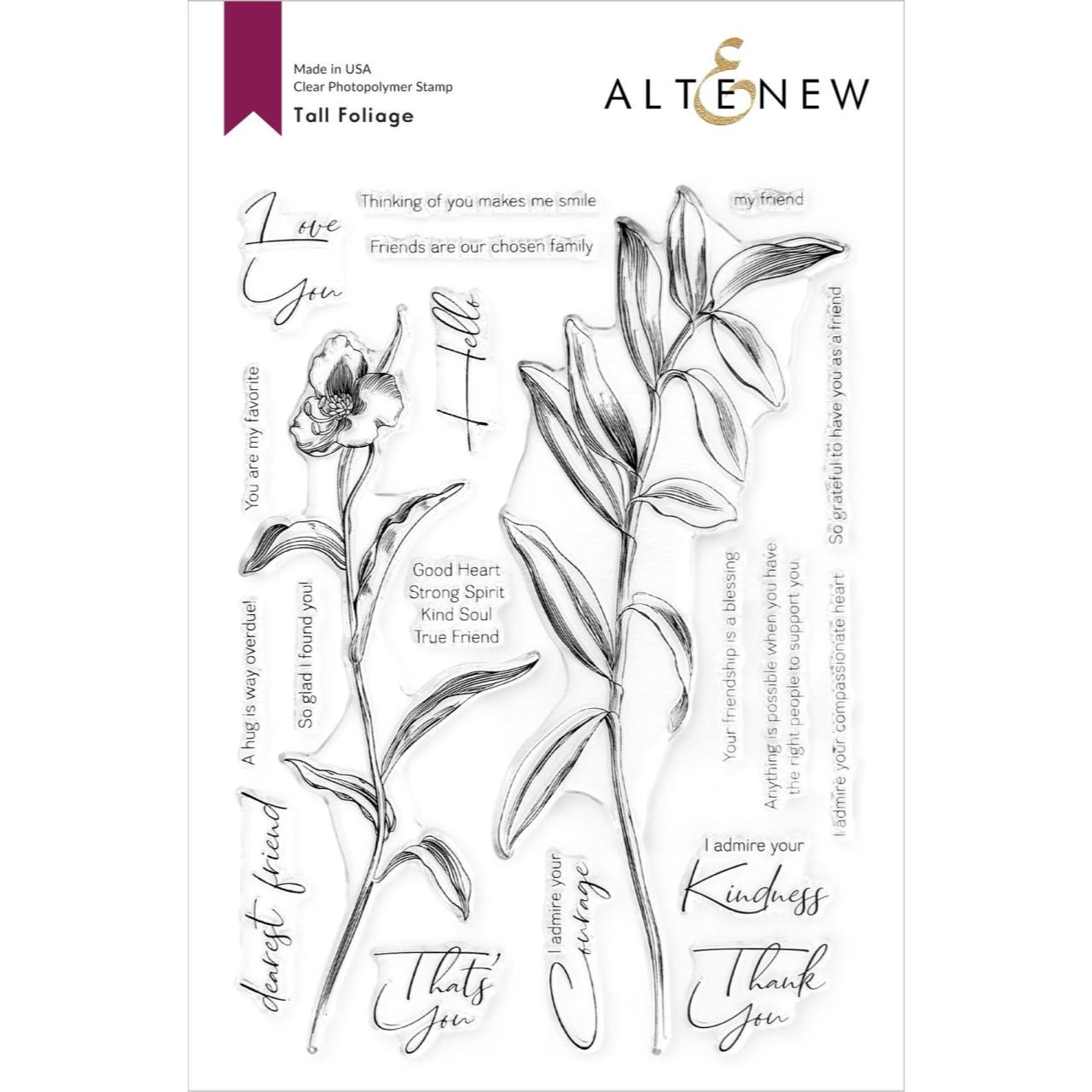 Tall Foliage, Altenew Clear Stamps -