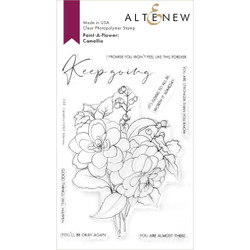 Paint-A-Flower: Camellia Outline, Altenew Clear Stamps -