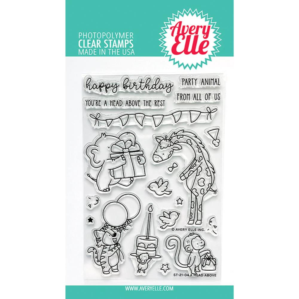 A Head Above, Avery Elle Clear Stamps -