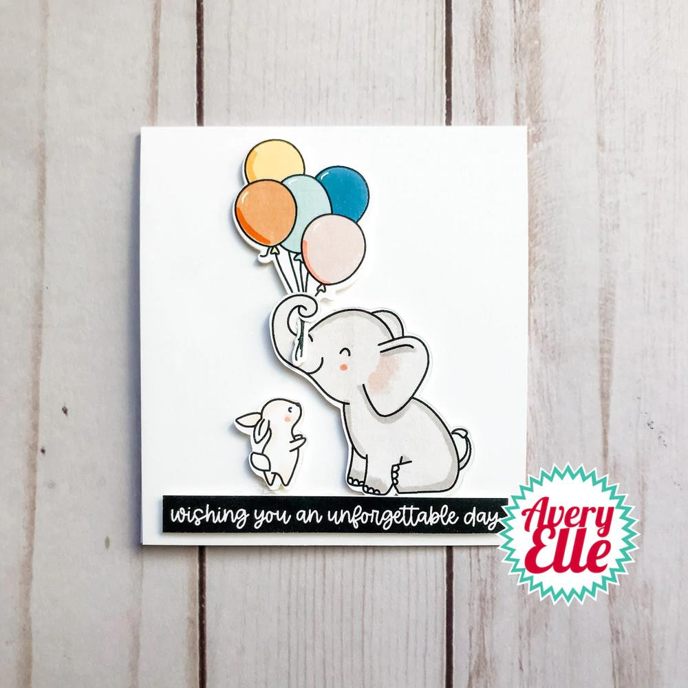 Elephantastic, Avery Elle Clear Stamps -