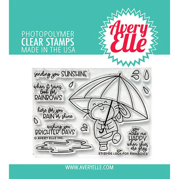Look for Rainbows, Avery Elle Clear Stamps -
