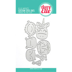 Peek-A-Boo Birthday Tag Toppers, Avery Elle-ments Dies -