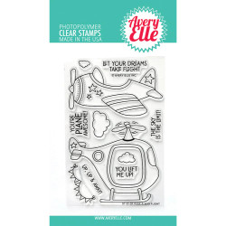 Peek-A-Boo Flight, Avery Elle Clear Stamps -