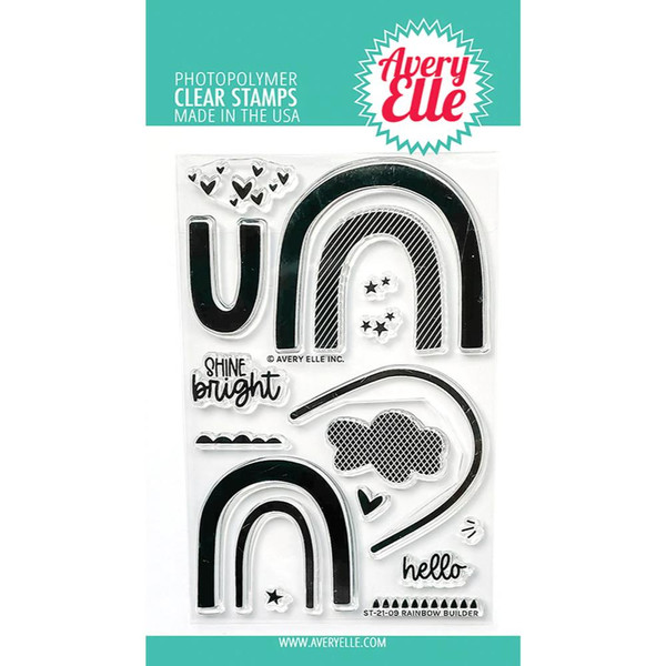 Rainbow Builder, Avery Elle Clear Stamps -