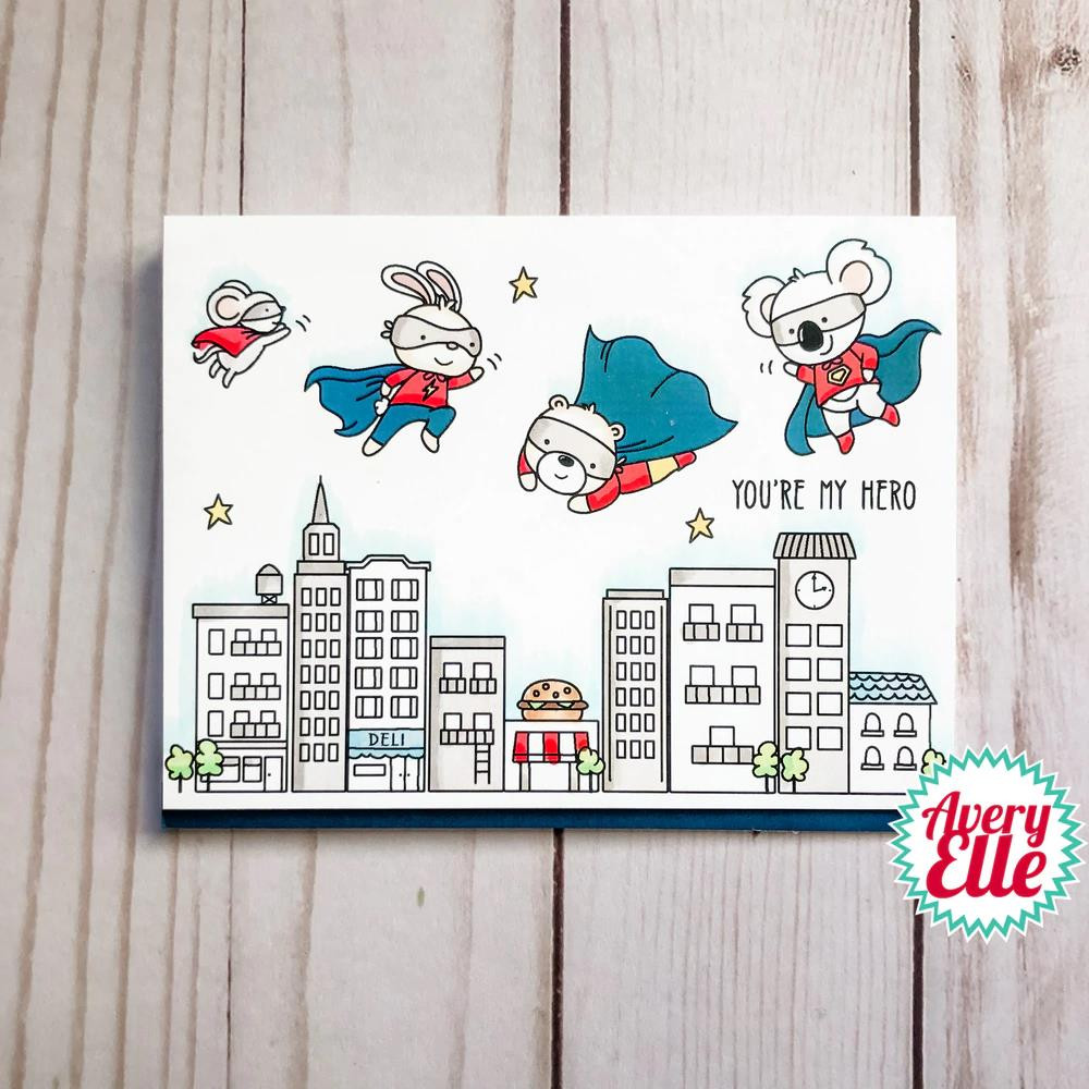 Superheroes, Avery Elle Clear Stamps -