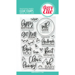 Everyday Circle Tags, Avery Elle Clear Stamps -