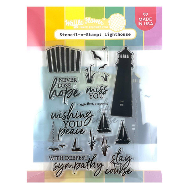 Lighthouse, Waffle Flower Stencil-n-Stamp -