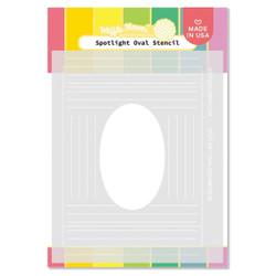 Spotlight Oval, Waffle Flower Stencils -