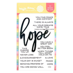 Oversized Hope, Waffle Flower Clear Stamps -