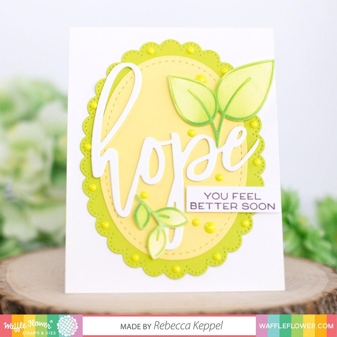 Oversized Hope, Waffle Flower Stamp & Die Combo -