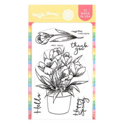 Crocus, Waffle Flower Clear Stamps -