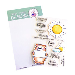Hello Sunshine, Gerda Steiner Designs Clear Stamps -