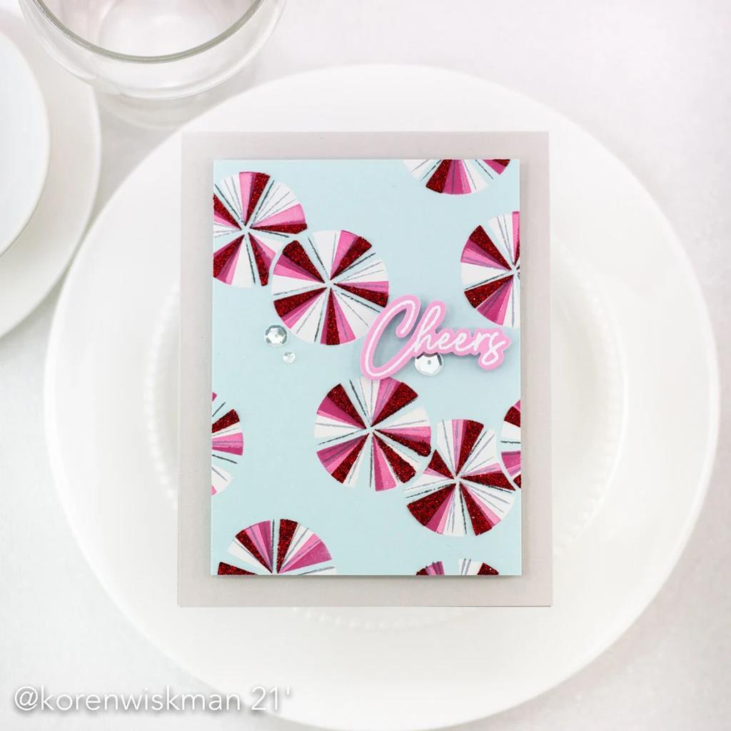 Happy Birthday Sentiments, Pinkfresh Studio Clear Stamps -