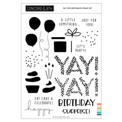 Yay for Birthdays, Concord & 9th Clear Stamps -