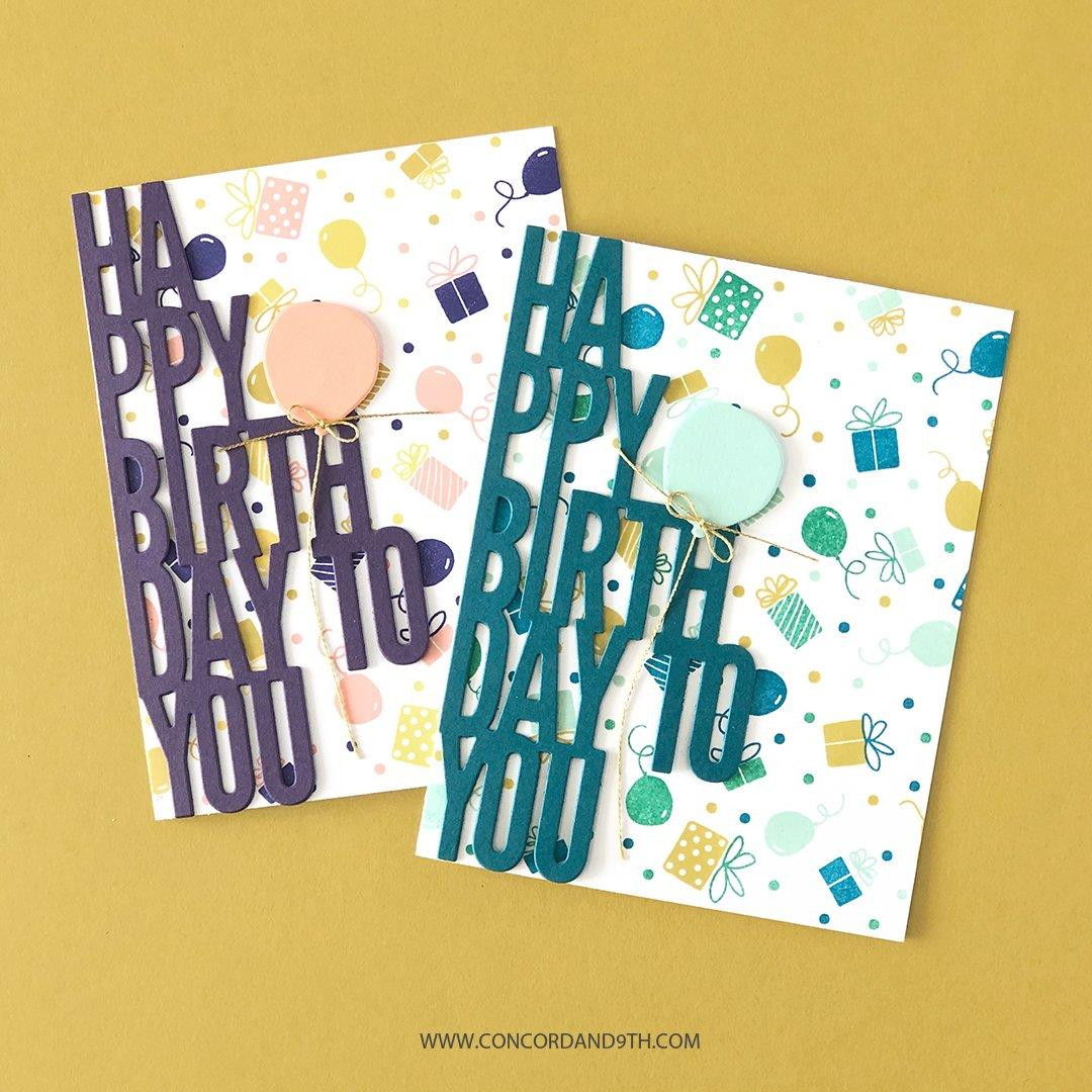 Let's Party Turnabout, Concord & 9th Clear Stamps -