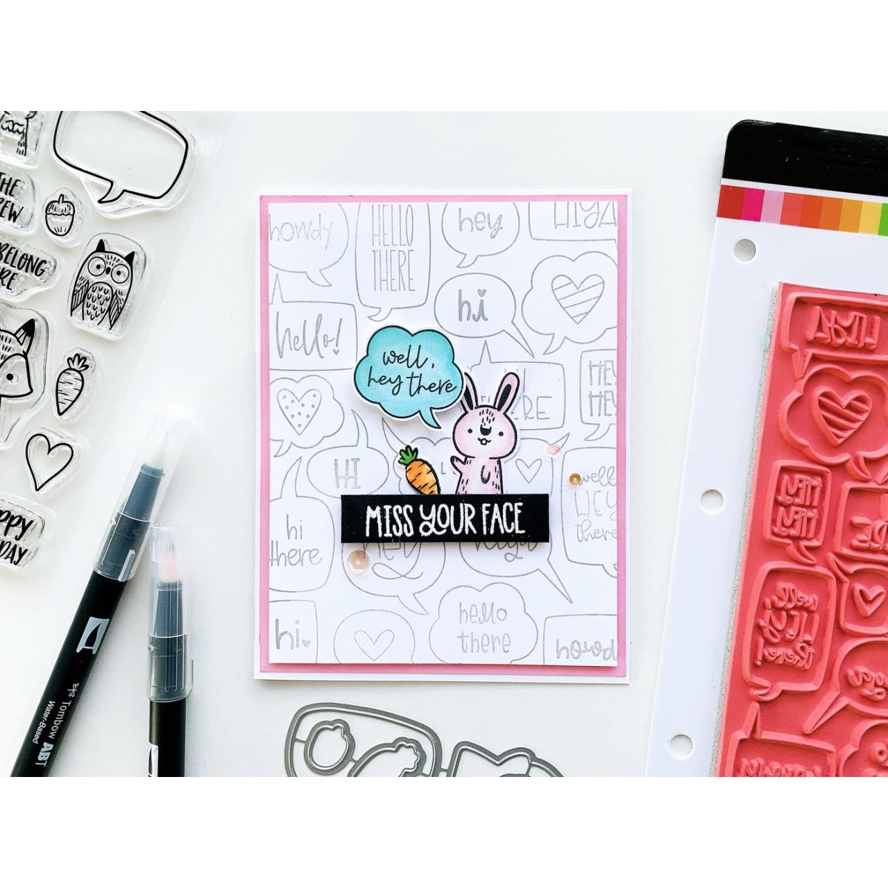 Chatterbox Background, Catherine Pooler Cling Stamps -