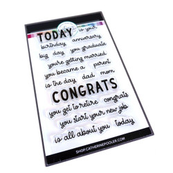 Today Sentiments, Catherine Pooler Clear Stamps -