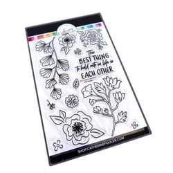 Best Things in Life Floral, Catherine Pooler Clear Stamps -