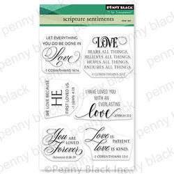 Scripture Sentiments, Penny Black Clear Stamps -