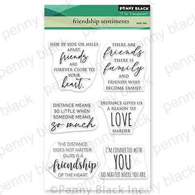 Friendship Sentiments, Penny Black Clear Stamps -