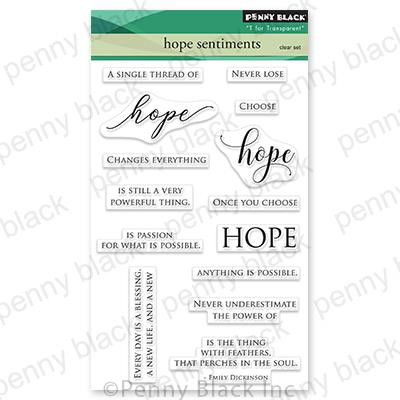 Hope Sentiments, Penny Black Clear Stamps -